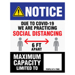 MAXIMUM CAPACITY Building Signs (5 decals)