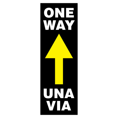 one way una via traffic arrow decals