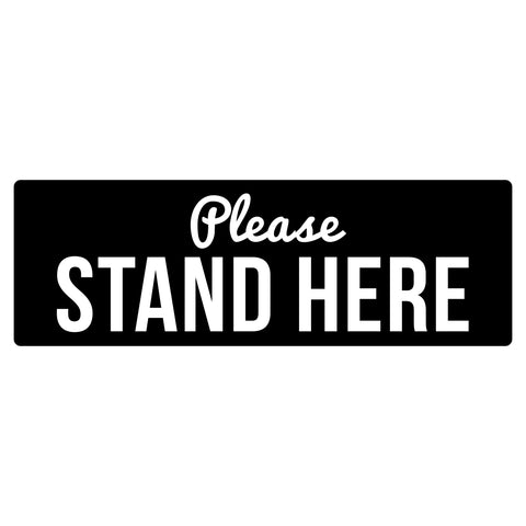 please stand here social distancing floor decals