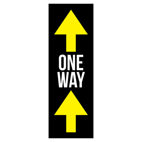one way traffic flow arrow floor decals