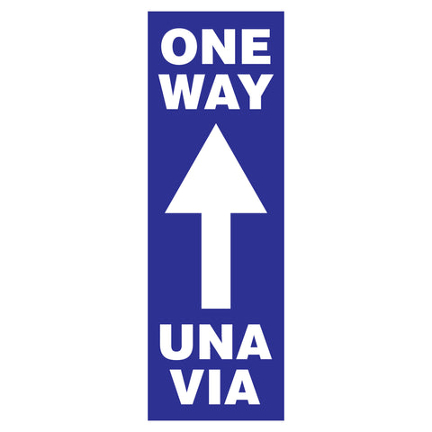 one way una via traffic arrow signs
