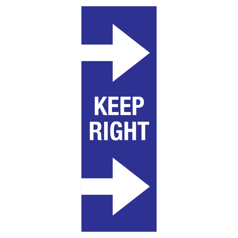 keep right traffic flow floor markers