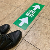 arrow one way floor stickers