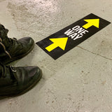 one way arrow floor stickers used in factories and warehouses