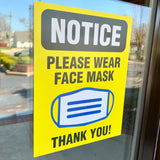 please wear face mask window decal