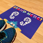 social distancing floor stickers for nursery schools and elementary schools