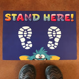social distancing floor stickers that are child friendly and fun for kids