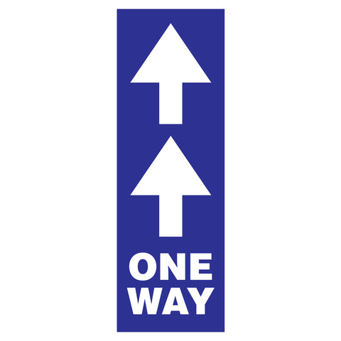 one way traffic flow arrow signs