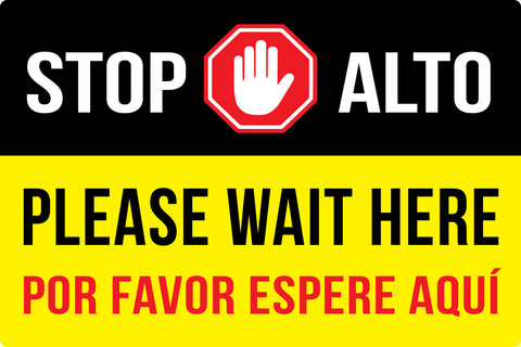 stop alto bilingual safety decals