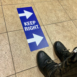 keep right floor decals