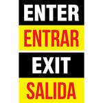 Enter/Exit Door Signs (10 total decals)