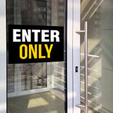 Enter/Exit Door Signs (10 decals total)