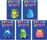 ELEMENTARY SCHOOL Stand Here Wall Monsters (5 different decals)