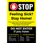 Feeling Sick? Stay Home Signage (5 decals)