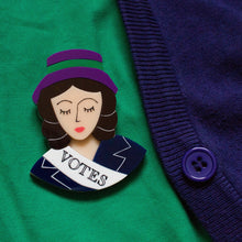 Load image into Gallery viewer, Suffragette Brooch
