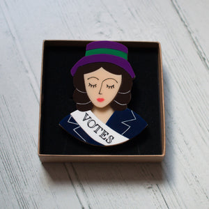 Suffragette Brooch