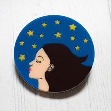 Load image into Gallery viewer, European Stargazer, EU Flag inspired Acrylic Brooch