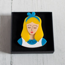 Load image into Gallery viewer, Alice in Wonderland Acrylic Brooch