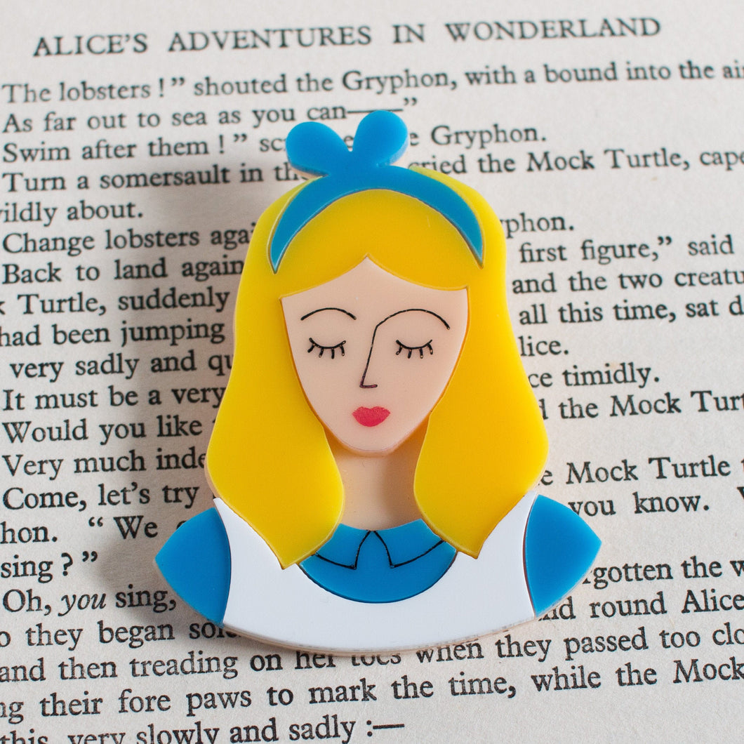 Alice in Wonderland Acrylic Brooch