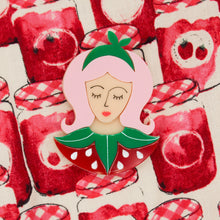 Load image into Gallery viewer, Scarlett Strawberry, Fruit Costume Brooch