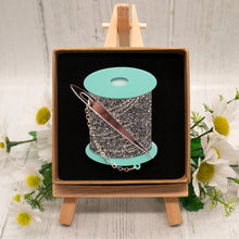 Load image into Gallery viewer, Needle and Thread Brooch, Mint Green