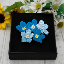 Load image into Gallery viewer, Forget-Me-Not Brooch