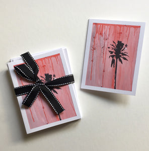 Pink Palm Note Cards