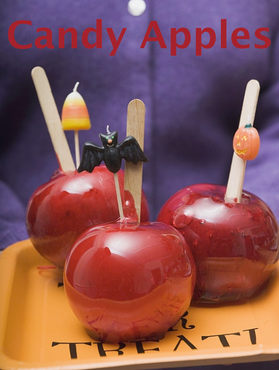 Halloween traktatie – DIY Candy Apples