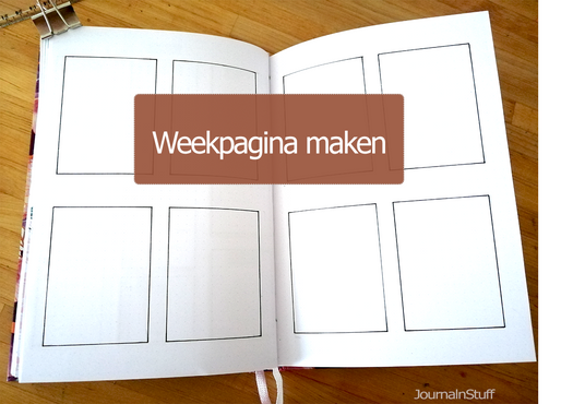 Gastblog Esthy - Plan With Me Augustus - Set up Week pagina's