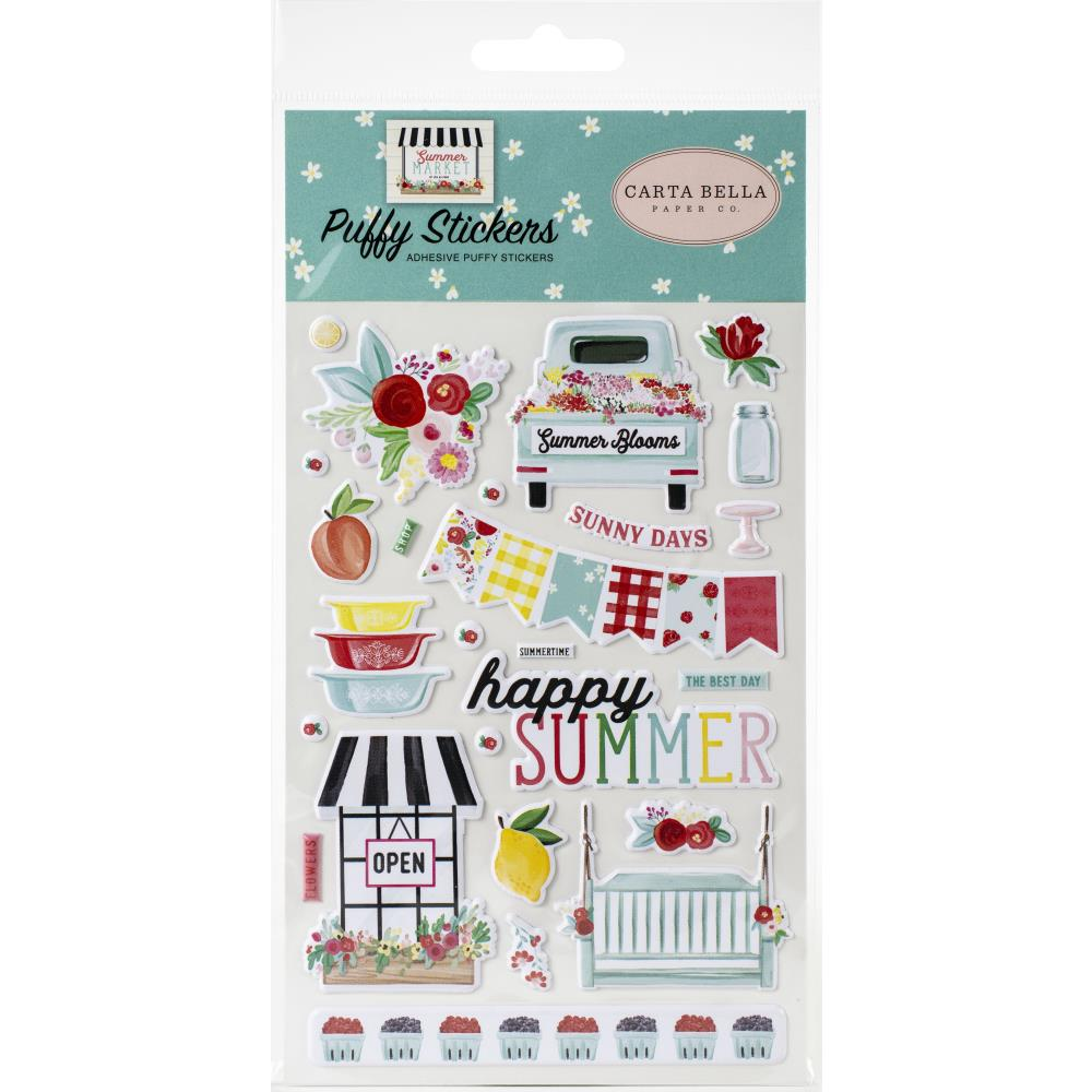 Carta Bella Stickers - Summer Market Puffy Sticker