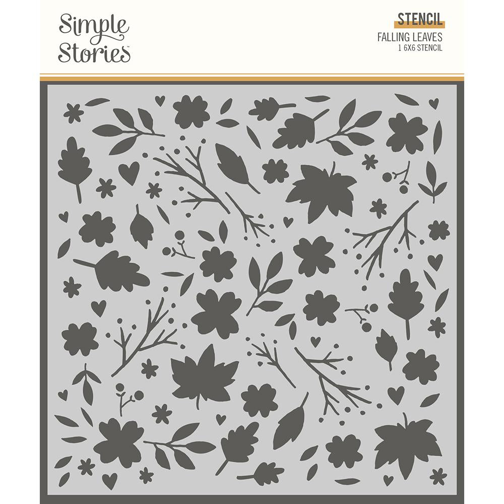 Stencil - Cozy Days - Falling Leaves