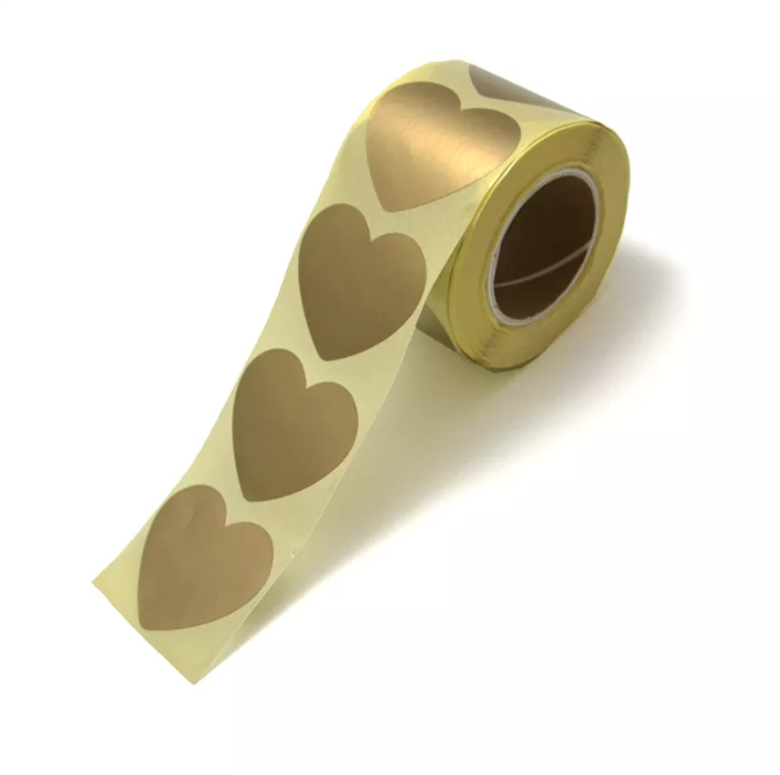 Cadeausticker Golden Hearts per 10