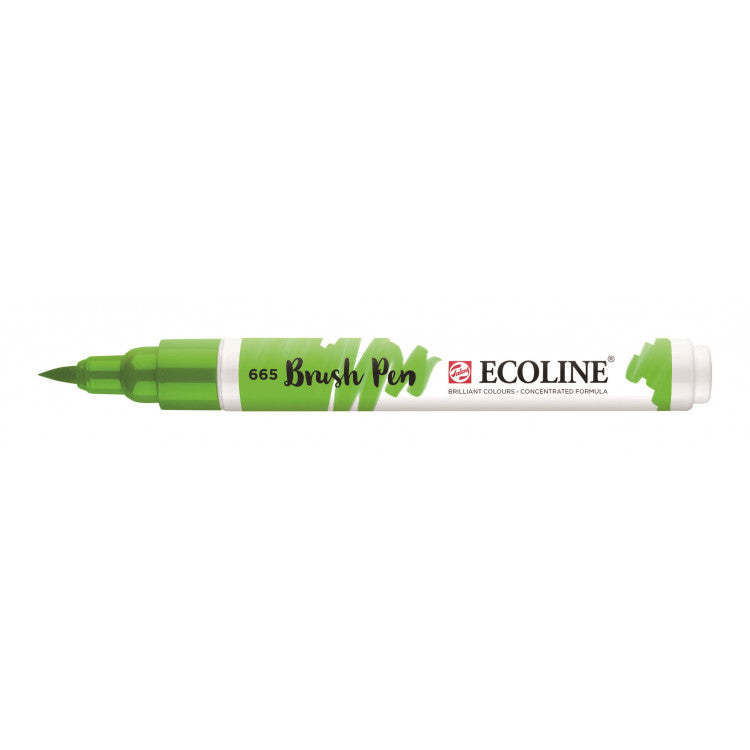 Talens Ecoline Brush Pen - 665 Lentegroen - JournalnStuff