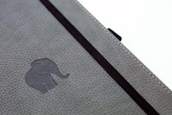 Dingbats* Wildlife A5 Dotted Notitieboek - Grey Elephant