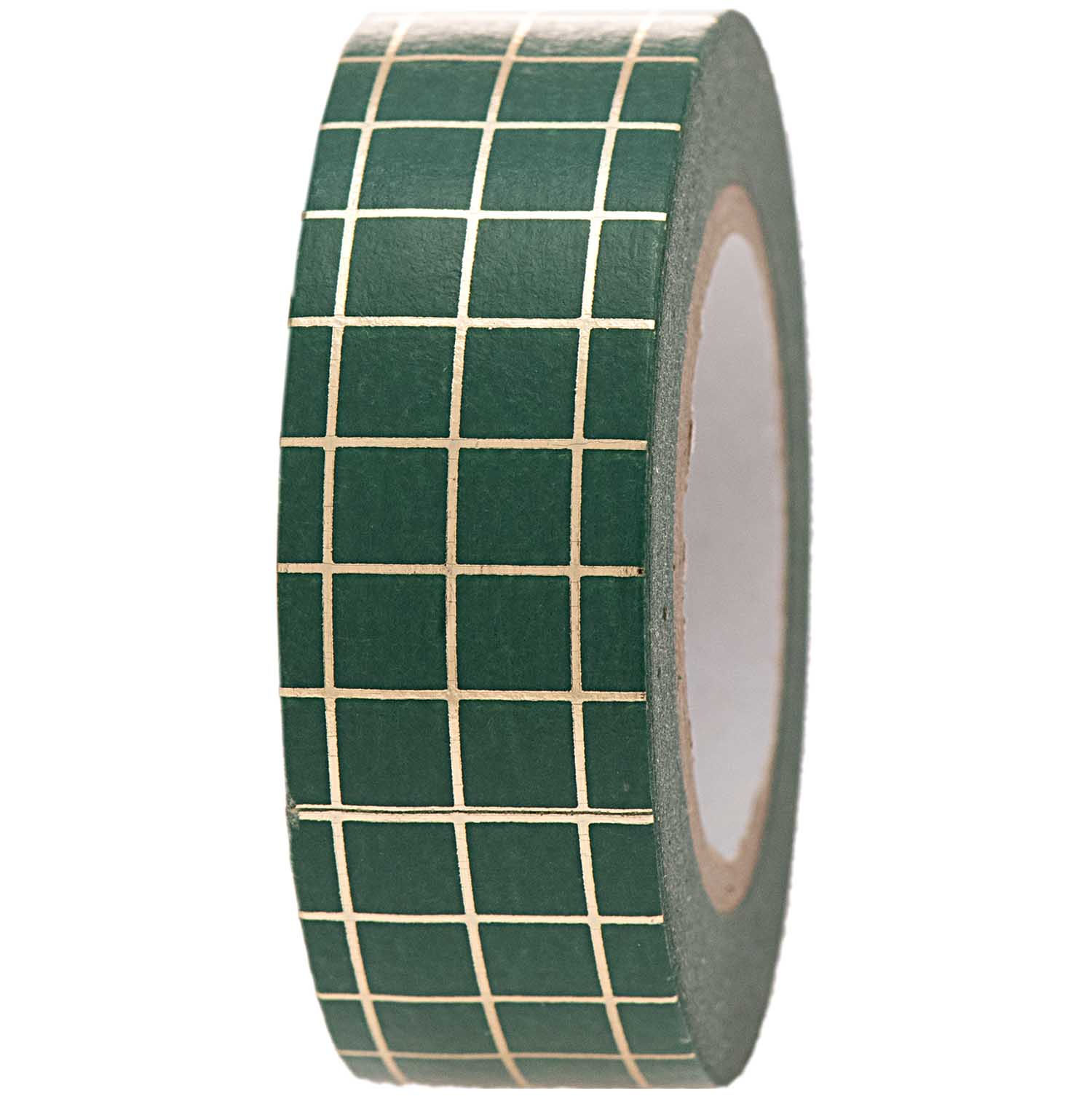 Paper Poetry Washi Tape - Christmas is in the air - Groen/goud ruitjes