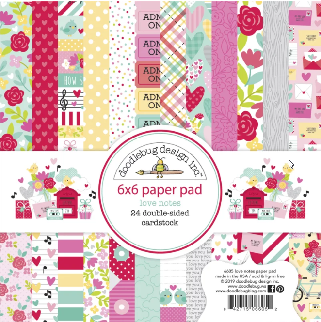 Doodlebug Design Paper Pad - Love Notes Collection