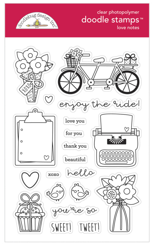 Doodlebug Design Clear Stamp - Love Notes Collection