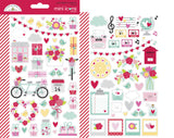 Doodlebug Design Stickers - Love Notes Collection Mini Icons