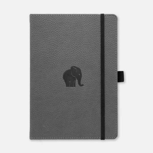 Dingbats* Wildlife A5 Lined Notitieboek - Grey Elephant