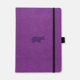 Dingbats* Wildlife A5 Dotted Notitieboek - Purple hippo