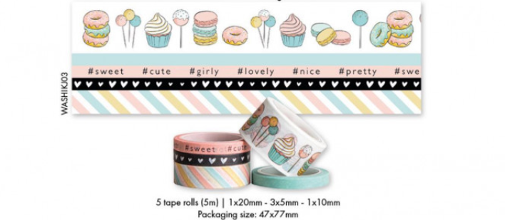 Washi Tape Karin Joan Missees Collection nr.03