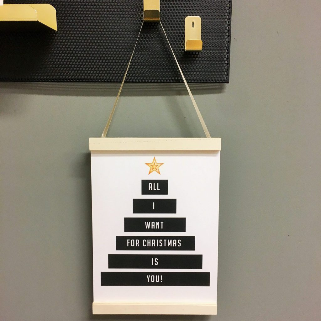 Kerst Poster - All I want for Christmas - A4
