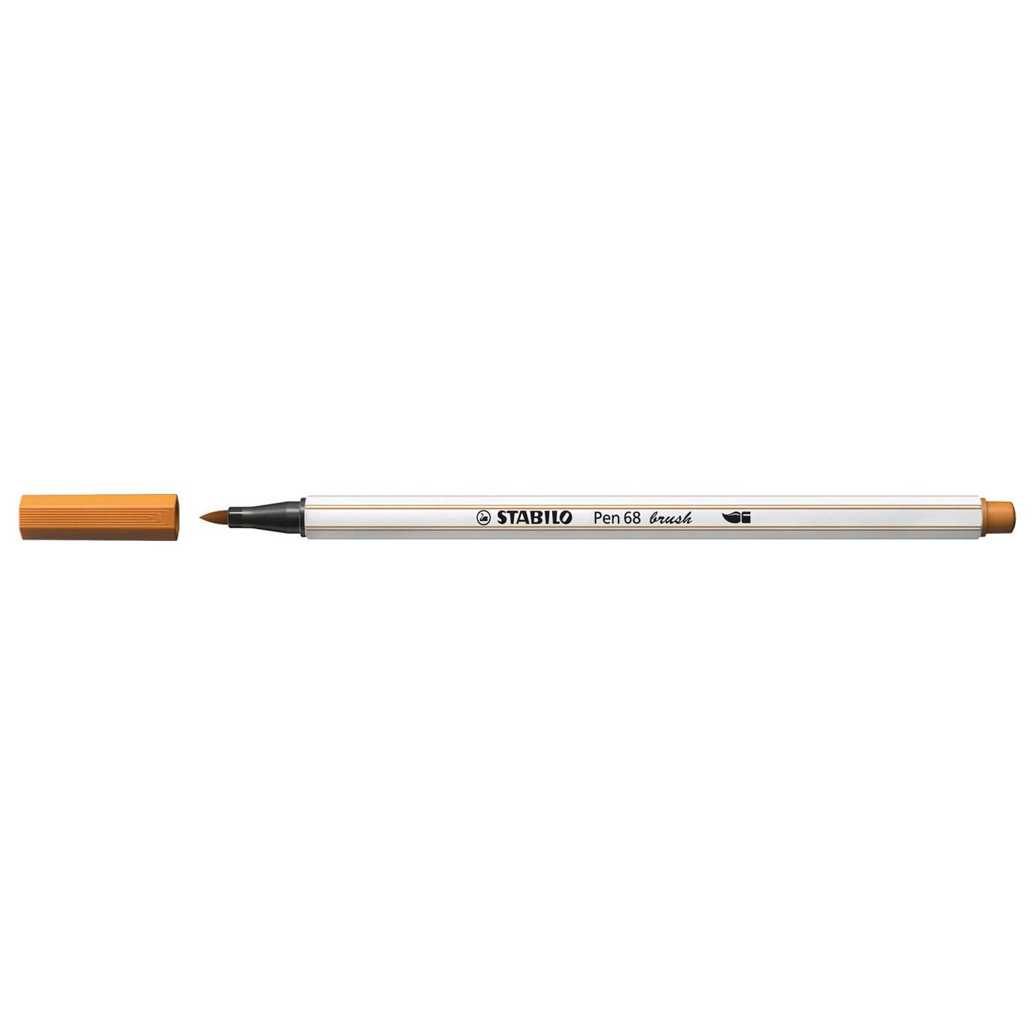Stabilo Pen 68 Brush - 89 Donker Oker - JournalnStuff