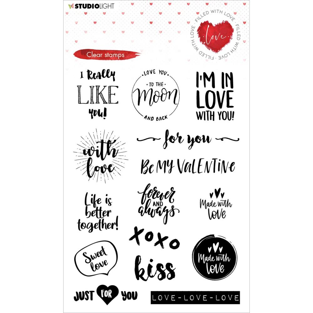 Clear Stamp - Studio Light -  Filled With love - nr.509