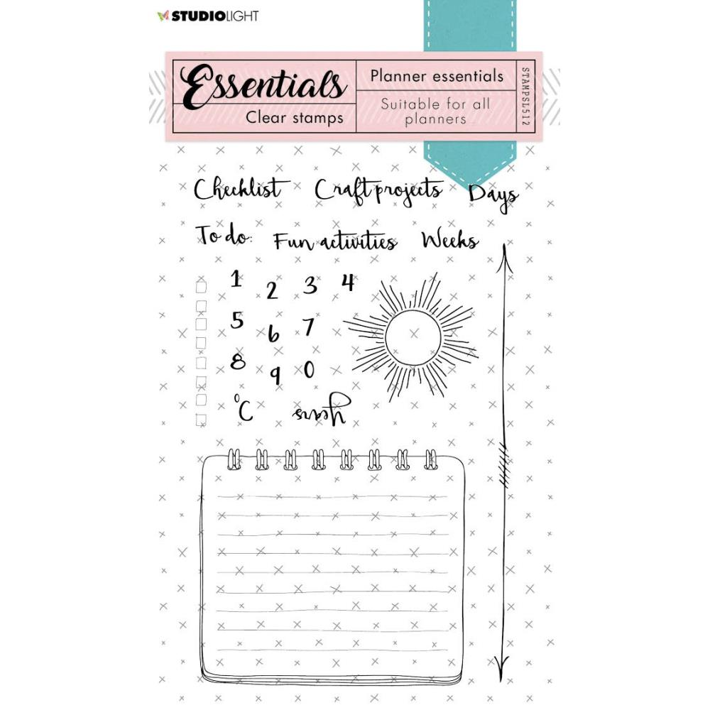 Studio Light Essentials -  Planner Essentials clear stamps A6 - nr 512