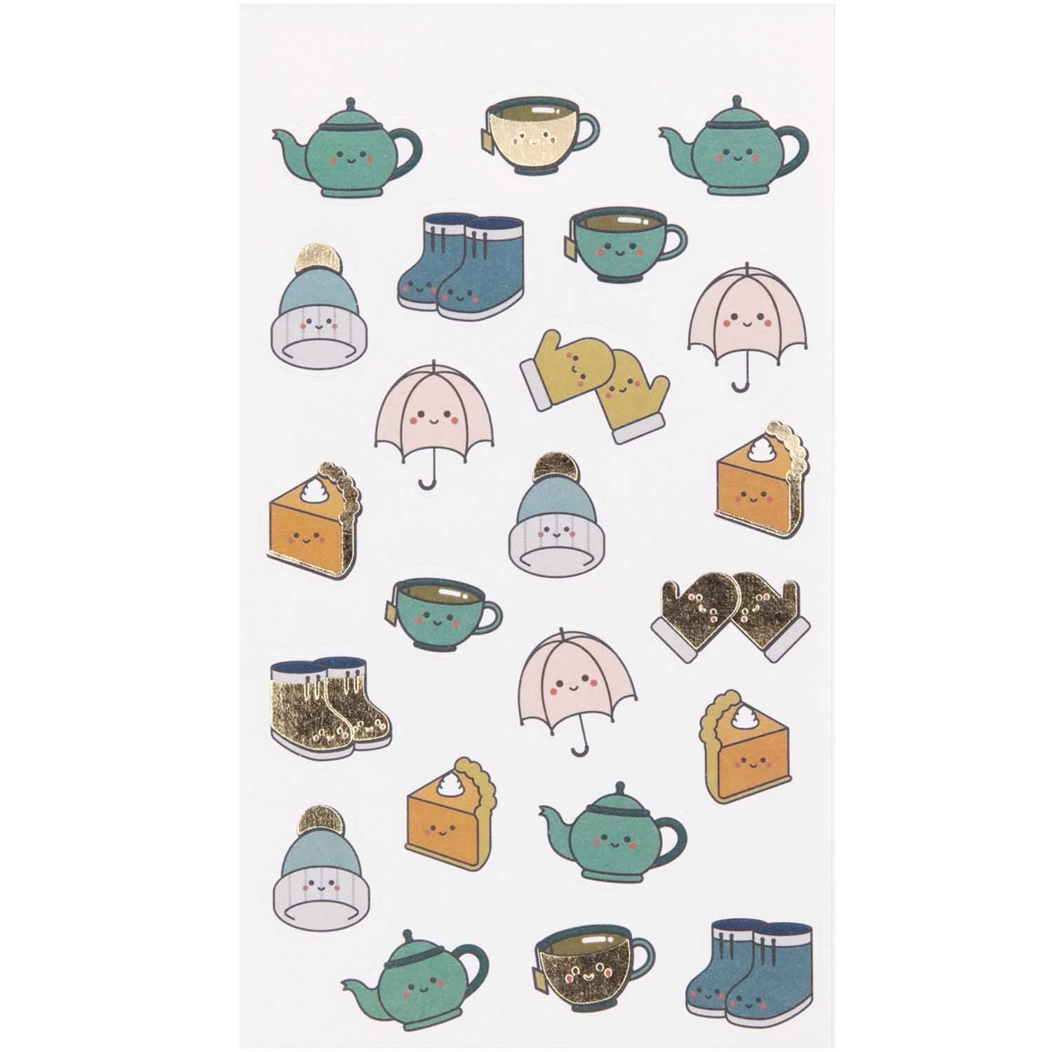 Paper Poetry Funny Fall Stickers Cosy Fall