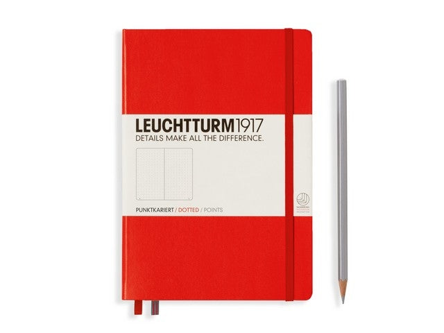 Leuchtturm1917 Dotted Notitieboek A5 -  Rood - JournalnStuff