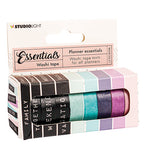 Studio Light Essentials - Planner Essentials Washi Tape nr17 - Text & pastel colors