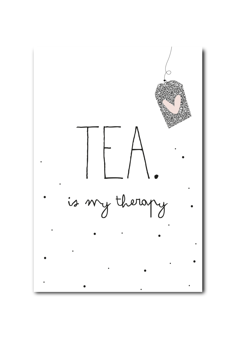 Kaart - Tea is my therapy