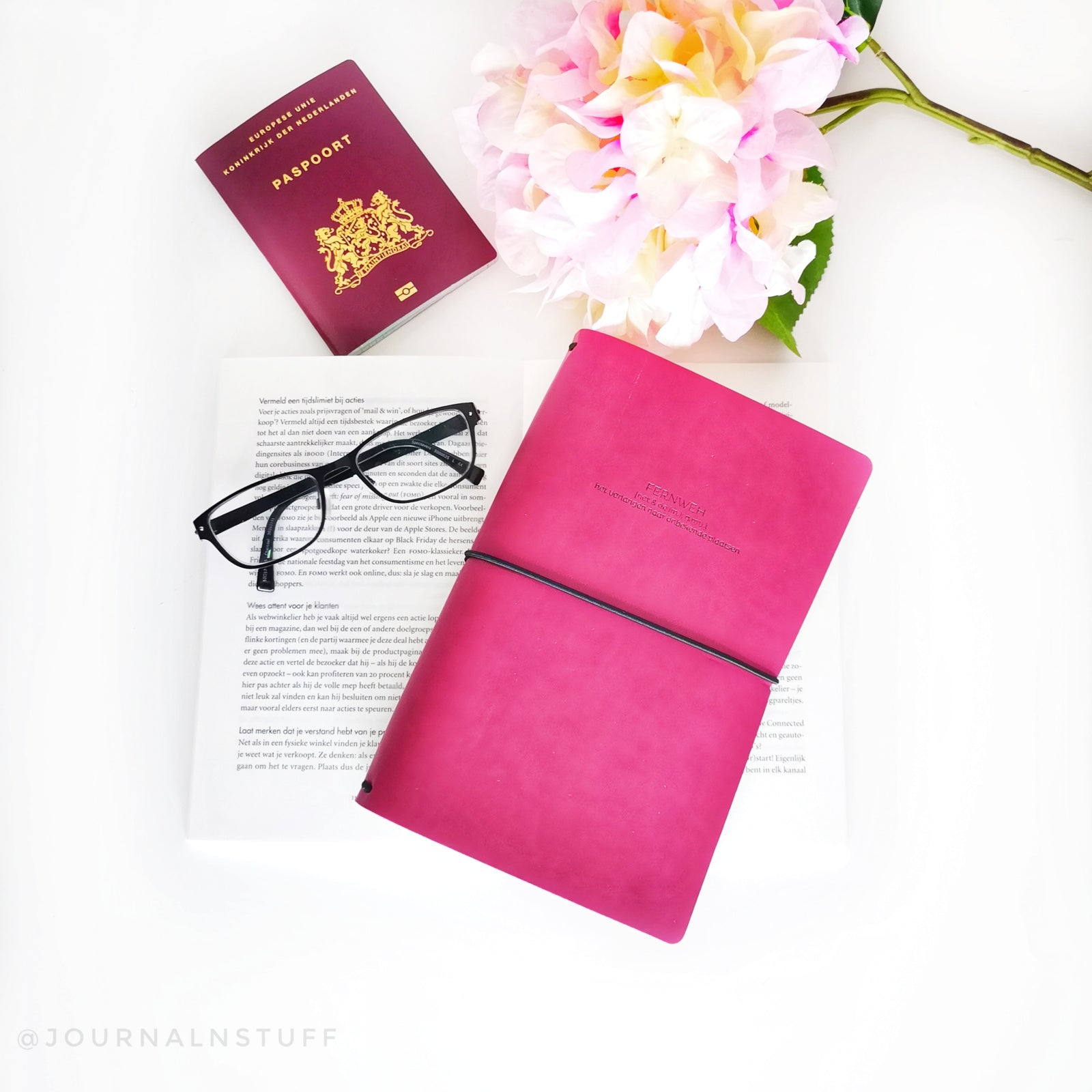Fernweh Travel Notebook Pink - JournalnStuff